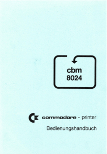 cbm-8024-commodore-printer-bedienungshandbuch