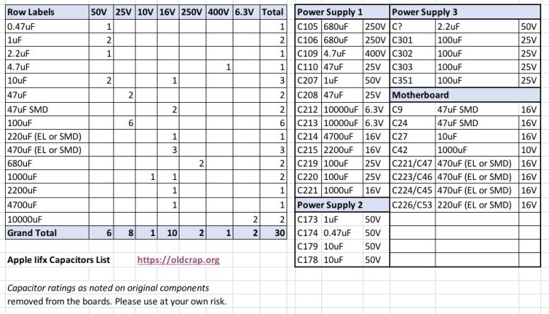 apple-iifx-capacitors